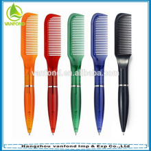 Cheap novelty promotional plastic comb pen for wineshop and barbershop used