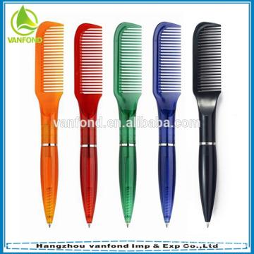 Promocional plástico barato novidade pente caneta para vinhos e barbearia usado