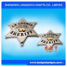 Insignia del sheriff del metal 3D (LZY-000099)