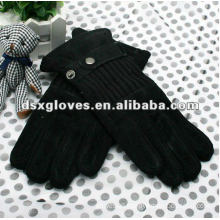 Suede pigskin garment leather gloves for winter