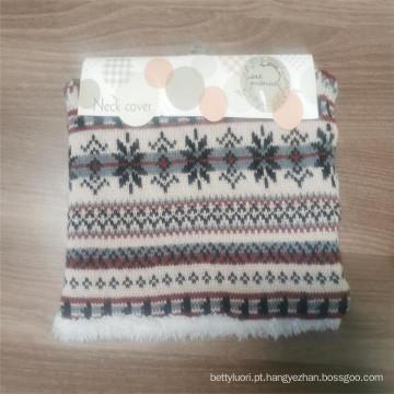 Aquecedor de pescoço de tricô 100% acrílico lenços de malha