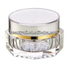 Pot de crème acrylique transparent