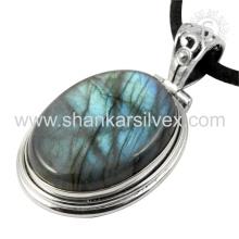Efficacious silver pendant labradorite gemstone jewelry 925 sterling silver wholesale jewellery handmade