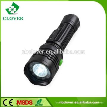 LED lanternas recarregáveis 240 lumens materiais de alumínio levou tocha lanterna