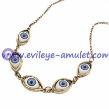 Unique Evil Eye Antique Bronze Sweater Necklace