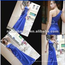 Silk-like Satin Beadings Evening Dress