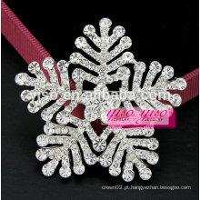 Broche de cristal de floco de neve de sempre fé