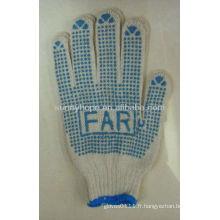Gants de tricot avec point de PVC