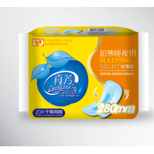 Kualitas tinggi Anion Chip Sanitary Napkin 290mm Winged