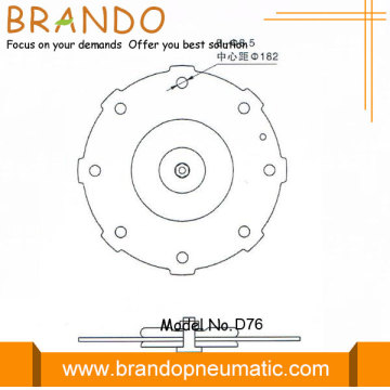 Diaphragme pneumatique de valve d'impulsion pneumatique DMF-Z-76S