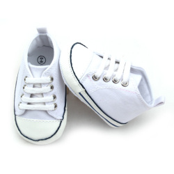 Wholesale Cheap Canvas White Baby Shoes in Bulk