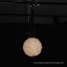 Custom new design hotel modern decoration K9 project crystals led chandelier pendant light