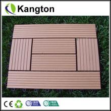 Baldosas de madera compuesta de plástico de enclavamiento para exteriores WPC (baldosas de WPC)