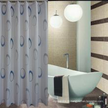 Estilo europeu 100% poliéster cortina de chuveiro impermeável