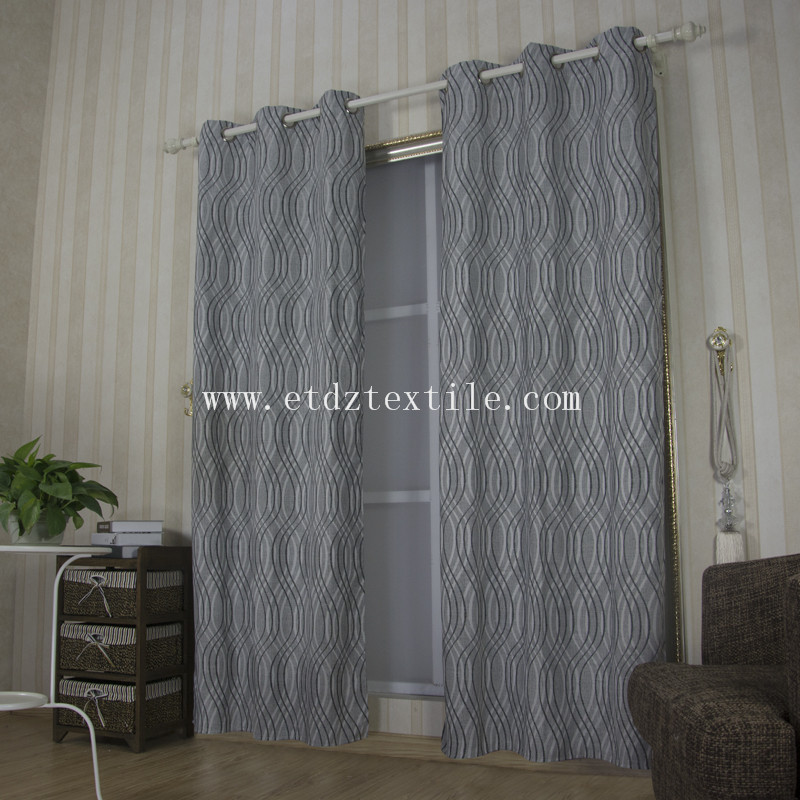 6014 Grey Color 2015 Top Sell Linen Touching 100% Polyester Curtain Fabric