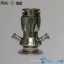Válvula de amostra asséptica sanitária de aço inoxidável