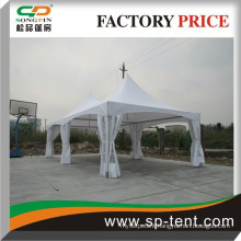 5x10m Wholesale Promotional Sale Luxury Decorated Outdoor Double peak tension fabric tent