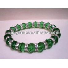 Green Diamond Beads Bracelet