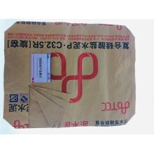 Sac d'emballage de puissance de matériau de construction de trois plis