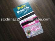 PVC plastic Magnetic stripe card