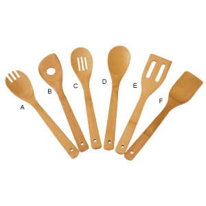 Cheap Bamboo 6-Piece Utensil Set