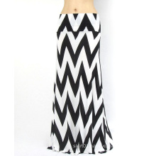 OEM Lates High Quality Print Sexy Cotton Women Long Skirt