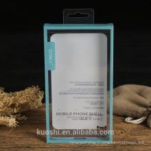 Couverture de téléphone portable de cas de téléphone favorisent la boîte dure d'emballage en plastique de PVC