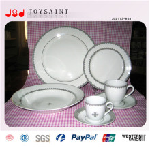 Simple Design Custom Logo Porcelain Tableware Plate for Home Use