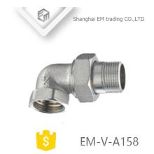 Encaixe manual da válvula de controle do ângulo do radiador EM-V-A158 do bronze 2-way