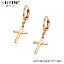 95859 Xuping ювелирных изделий 18k позолоченный крест серьги с медный сплав
