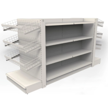 Iron display rack in grocery store