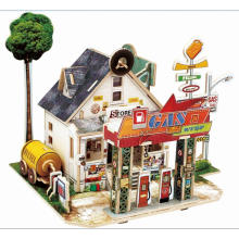 Wood Collectibles Toy for Global Houses-American Gas Station