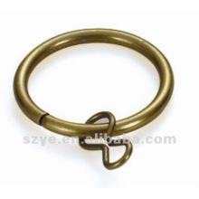 R06 anneaux de rideau en fer plaqué à lait chaud