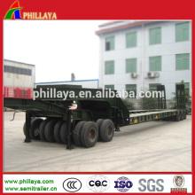 Chariot de remorque adapté aux besoins du client pour le transport résistant de Lowbed de 50 tonnes