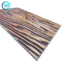 Shanghai Qinge 6/6.5/7/7.5mm brushed veneer faced plywood for wall panel