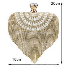 Heart Sharped Women Evening Clutch Bag Sac de mariée pour la soirée de mariage Soirée à la mode Sacs à main nuptiaux B00013 sacs à main mode 2015