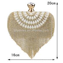 Heart Sharped Women Evening Clutch Bag Bride Bag For Wedding Evening Party Use Bridal HandBags B00013 fashion handbags 2015