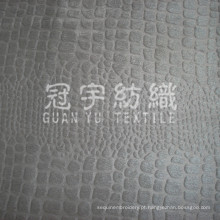 Warp Knitting Embossed Suede for Home Textile