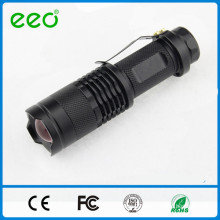 3 Watt Aluminum Body mini tactical flashlight with rechargeable Battery