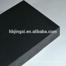 Folha de PVC rígida preta brilhante