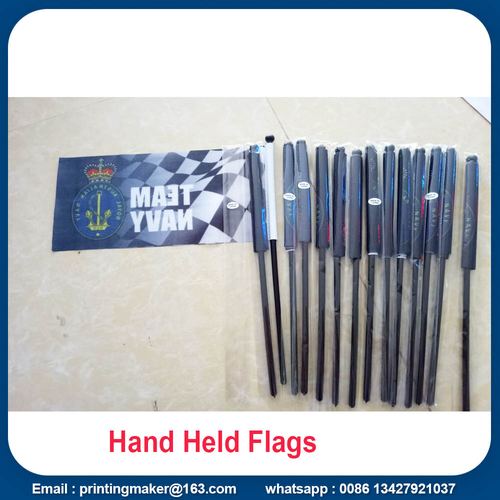 printed hand held flags