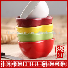 Colored ceramic bake ware round plate cake bake