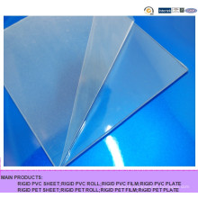 Good Impact Resistance Transparent PVC Sheet, Hard Clear PVC Rigid Sheet for Bending