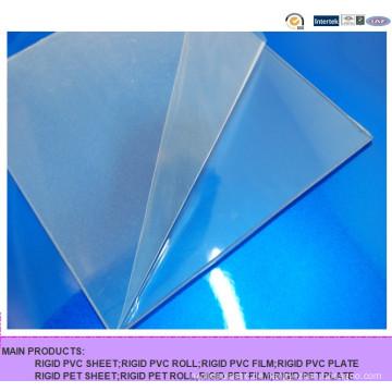 Gute Schlagfestigkeit Transparente PVC-Folie, Hartklare PVC-Hartblech zum Biegen