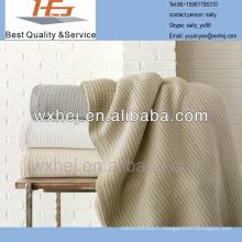 couverture de cellulaire thermique de coton d'hôtel de waflle