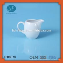 Frasco de cerámica blanca del creamer del café, productos superventas frasco de cerámica blanco de encargo de la leche