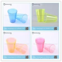Copo plástico duro descartável da bebida do chá de 7oz 200ml para o banquete de casamento