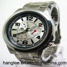 Relojes de pulsera de acero inoxidable del reloj y de la manera de la venta caliente de los hombres