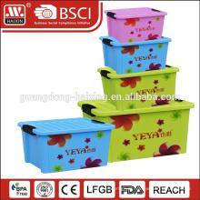 Caixa de armazenamento de comida de plástico hermético de 3L com anel de vedação