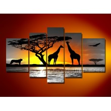 100% Hand Painted African Animal Oil Paintings